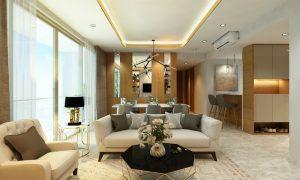 Nhà mẫu dự án Green Star ( Phòng khách A1 )