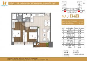 Thiết kế căn hộ mẫu B4B dự án Green Star